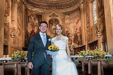 wedding ceremony of church