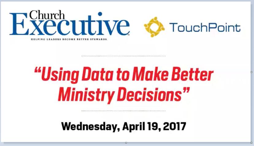WEBINAR: Using Data to Make Better Ministry Decisions