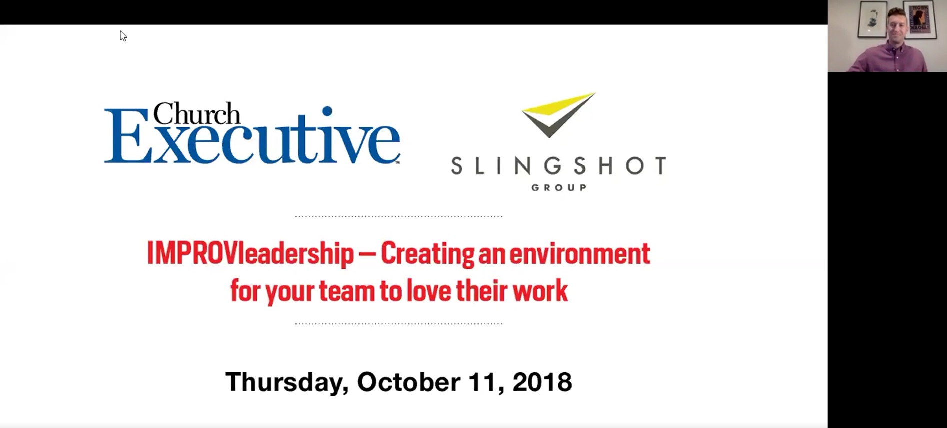 IMPROVleadership -- Creating an environment for your team to love their work